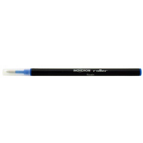 Recambio boligrafo roller inoxcrom azul plastico