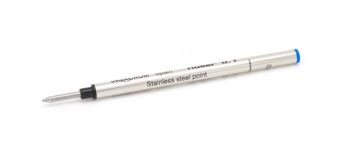 Recambio boligrafo roller inoxcrom azul metalico