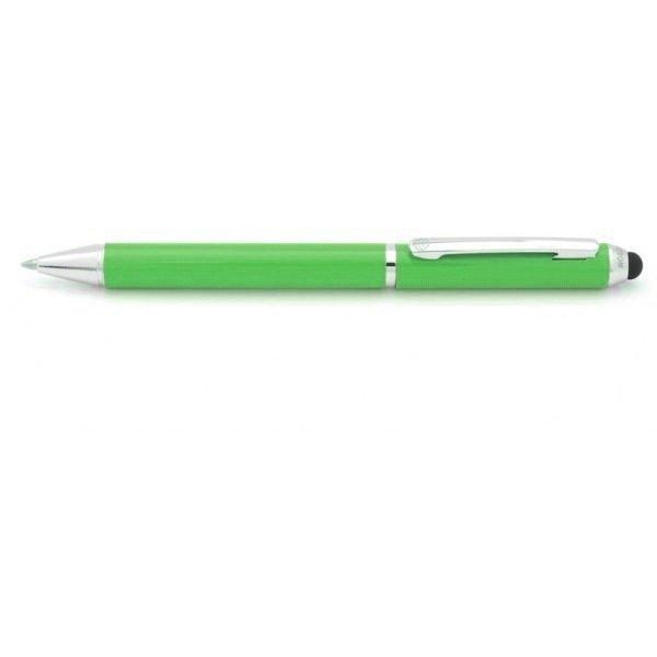Juego boligrafo y portaminas touch verde