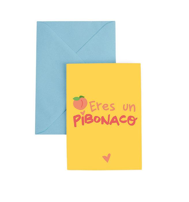 Tarjeta felicitacion a6 con sobre pibonaco