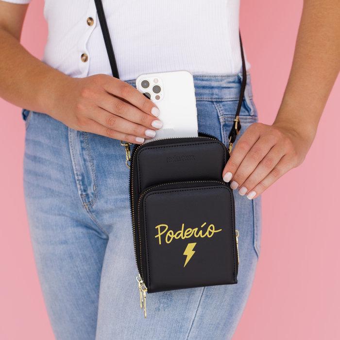 Mini bolso bandolera para movil poderio