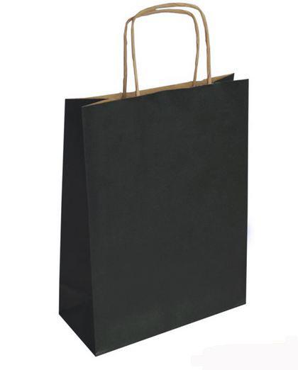 Bolsa kraft m 27+12x37 negro