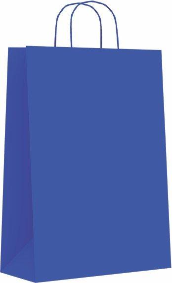 Bolsa celulosa azul m 27+12x37