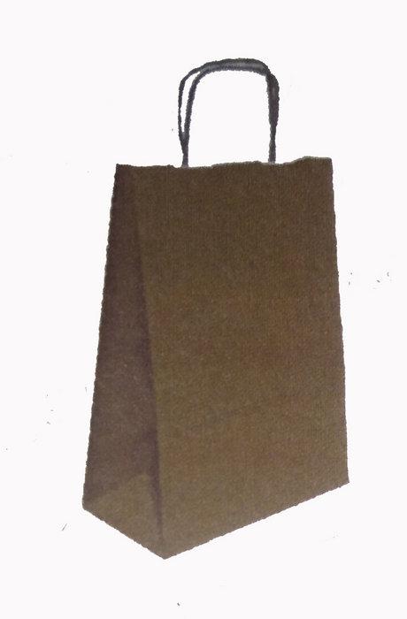 Bolsa kraft s 24+10x32 natural liso