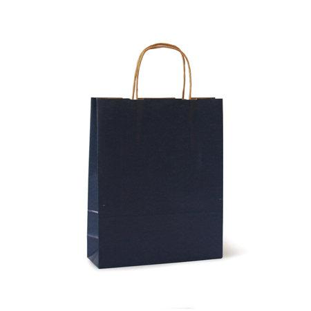 Bolsa kraft s 24+10x32 azul