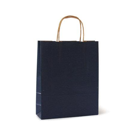 Bolsa kraft m 27+12x37 azul