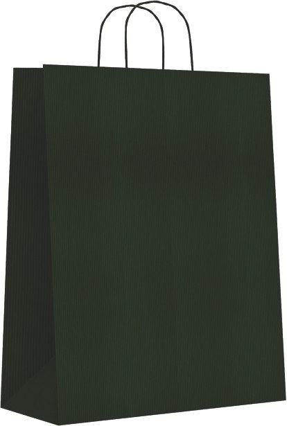 Bolsa kraft m 27+12x37 verde