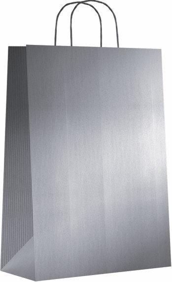 Bolsa kraft m 27+12x37 plata