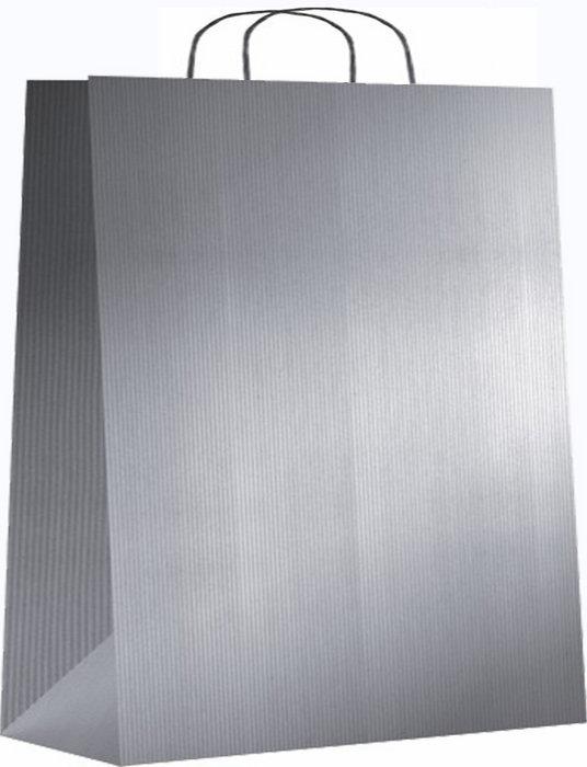 Bolsa kraft xl 42+19x48 plata