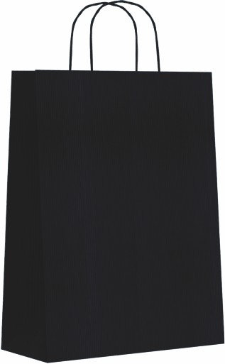 Bolsa celulosa m 27+12x37 negro