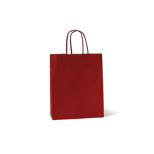 Bolsa kraft xs 18+8x24 rojo