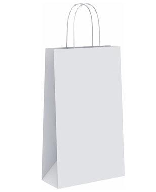 Bolsa papel celulosa blanca botella 18x8x39 cm