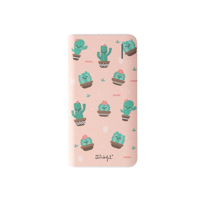 Bateria externa 4000mah mini cactus