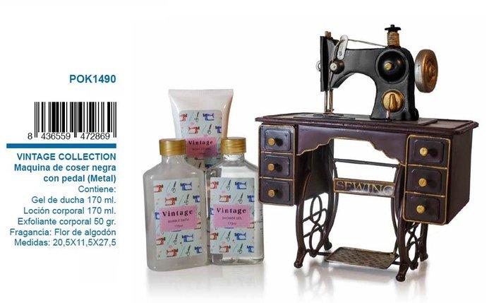 Set de baÑo maquina de coser vintage