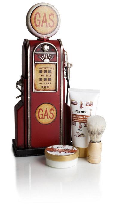 Set de afeitado surtidor de gasolina