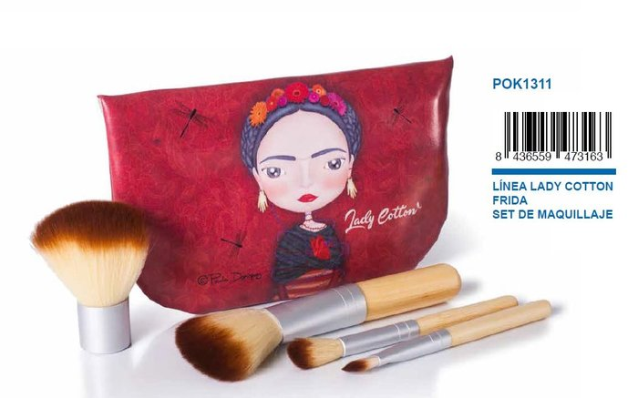 Bolso con brochas de maquillaje frida