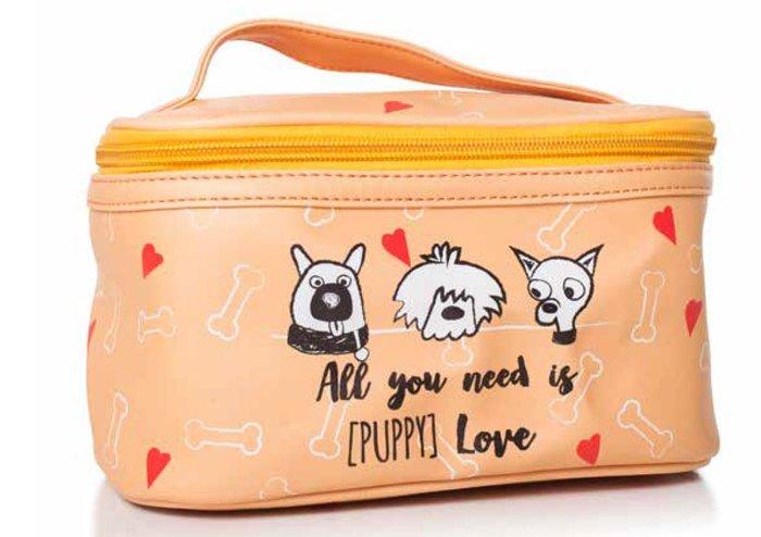 Neceser puppy  girl naranja