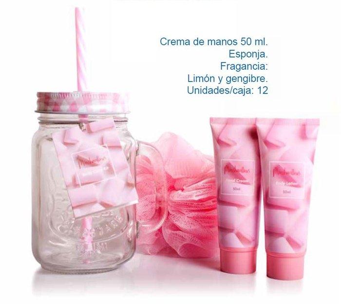 Set regalo jarra cristal con locion corporal y crema nube