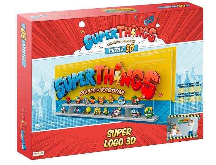 Puzzle 3d superthings super logo