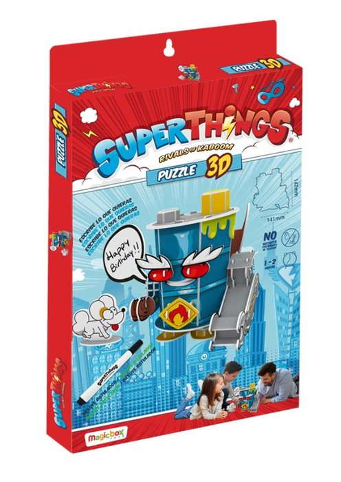 Puzzle 3d superthings mr. king