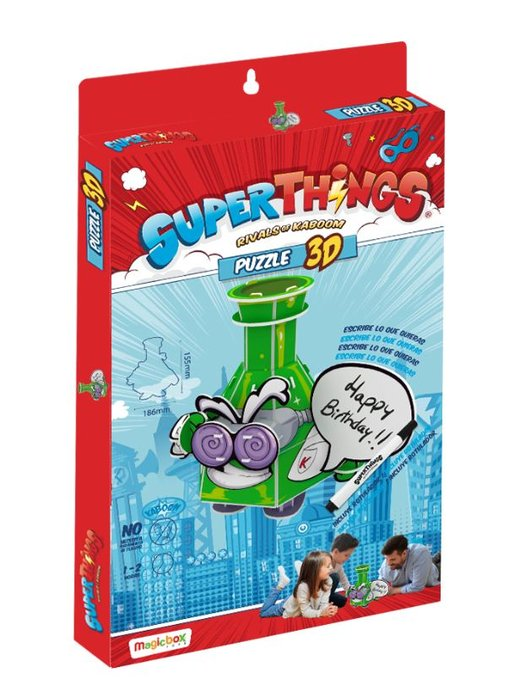 Puzzle 3d superthings profesor k