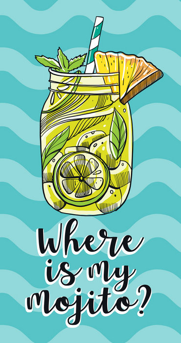 Toalla poly 255 gsm 90 x 160 cm where is my mojito