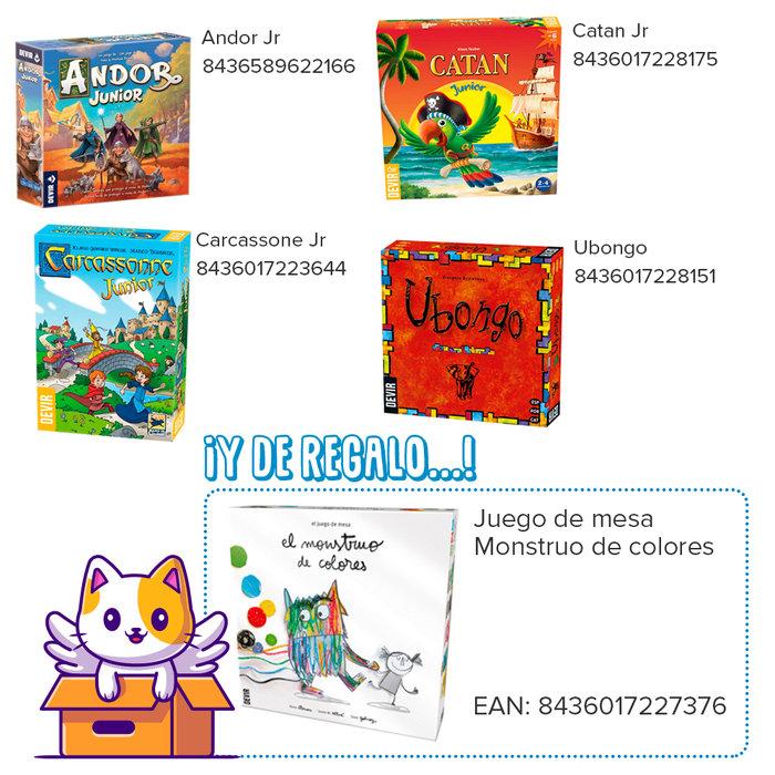 Lote infantil juegos devir + monstruo de colores gratis