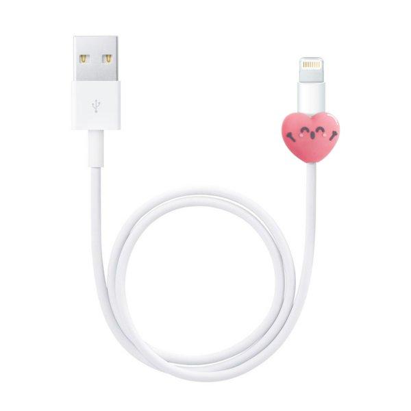 Protector cable forma corazon