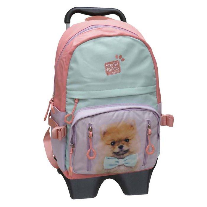 Mochila con trolley perrito- studio pets