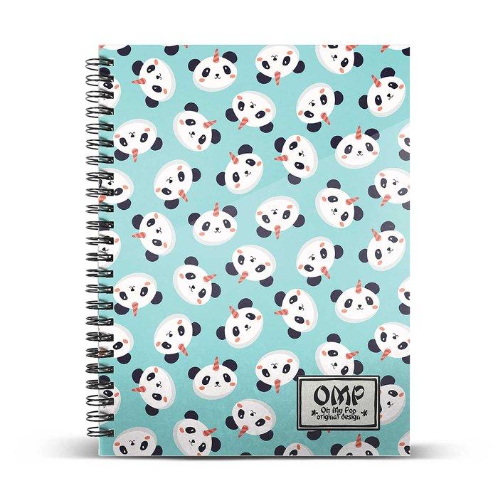 Cuaderno cuadricula a5 oh my pop! pandicornio