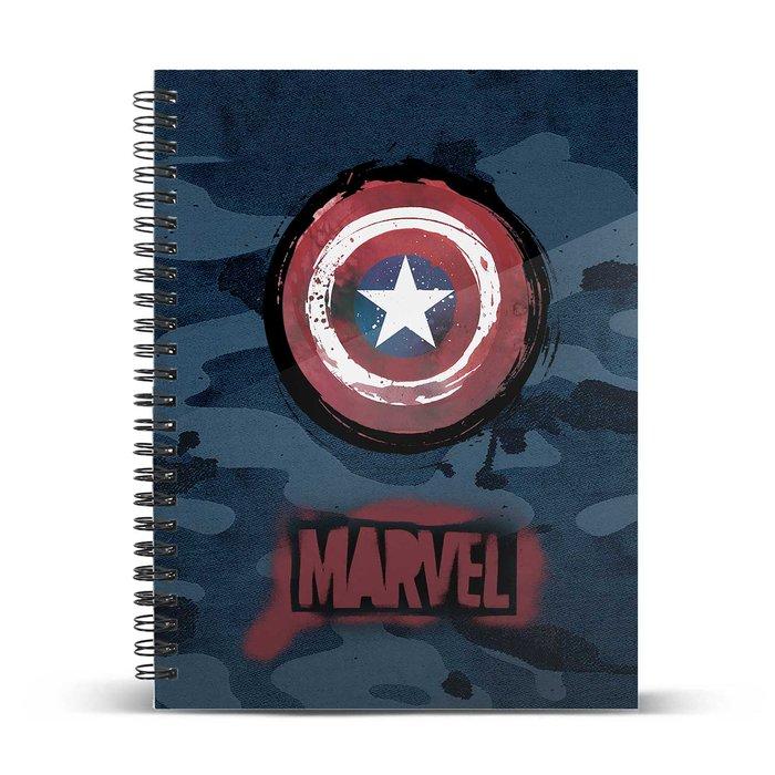 Cuaderno cuadricula a5 capitan america supreme