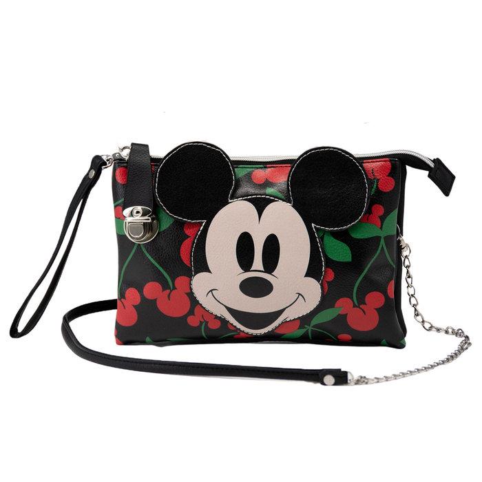 Bolso pequeÑo de paseo triple mickey mouse cherry