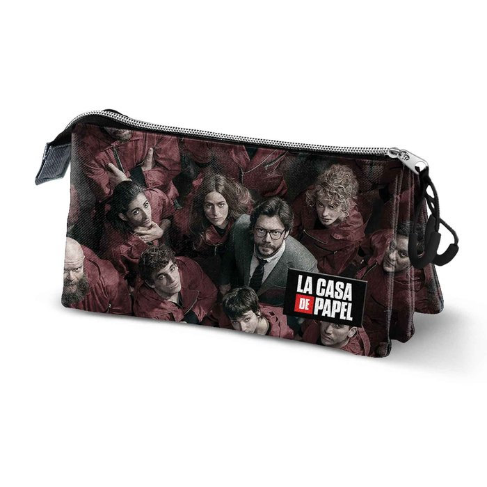 Estuche portatodo triple hs la casa de papel together