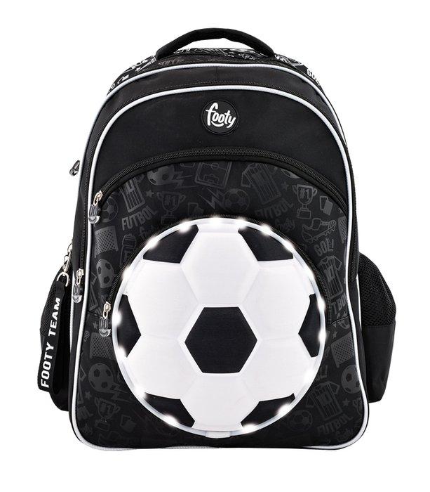 Mochila escolar footy con luz led soccer ref 000898