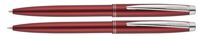 Set boligrafo y portaminas color scrikss 108 prestige rojo