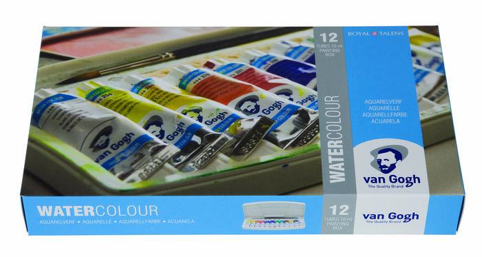 Acuarela van gogh tubo 10ml estuche plastico 12 colores