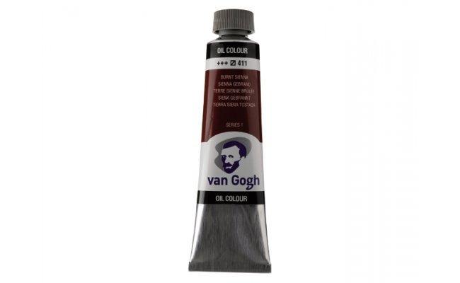 Pintura oleo van gogh 40ml tierra sienna tostada