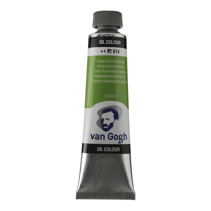 Pintura oleo van gogh 40ml verde permanente medium