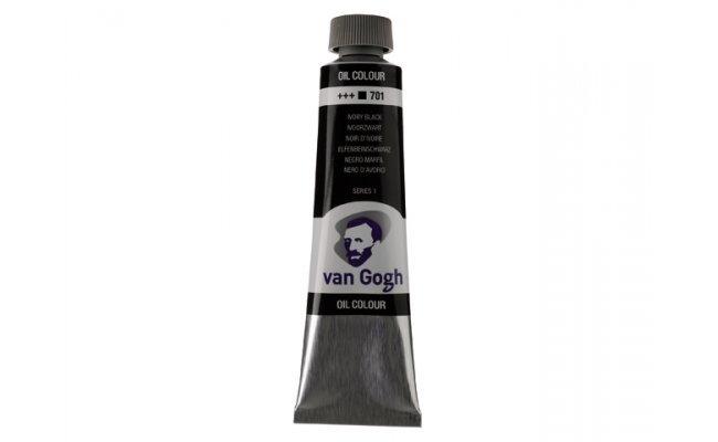 Pintura oleo van gogh 40ml negro marfil