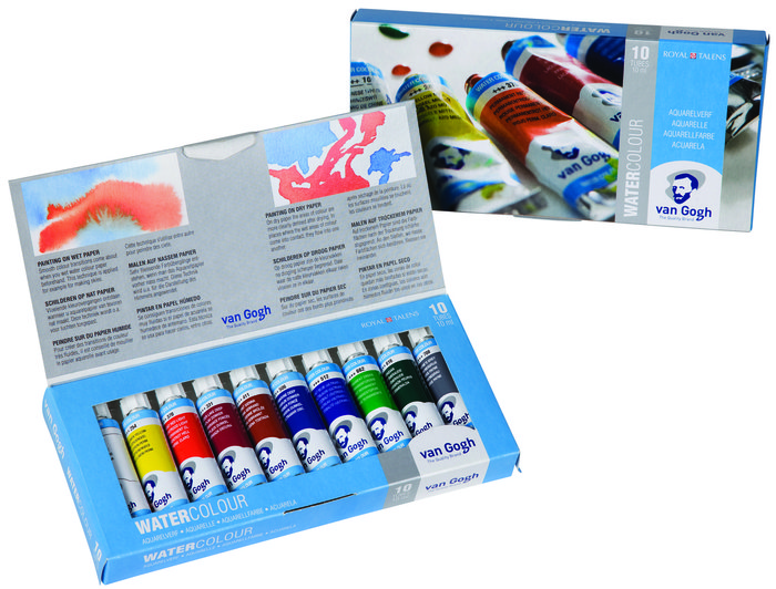 Acuarela van gogh tubo 10 ml estuche carton 10 colores