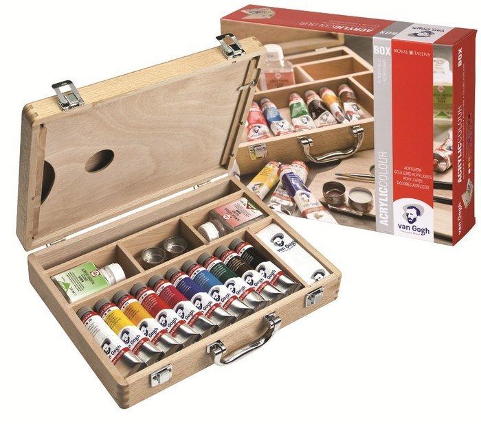 Pintura acrilico van gogh 40ml caja madera