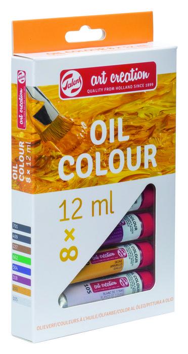 Pintura oleo talens art creation estuche 8 x 12 ml