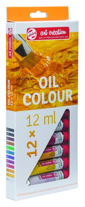 Pintura oleo talens art creation estuche 12 x 12 ml