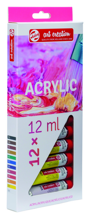 Pintura acrilico talens art creation estuche 12 x 12 ml