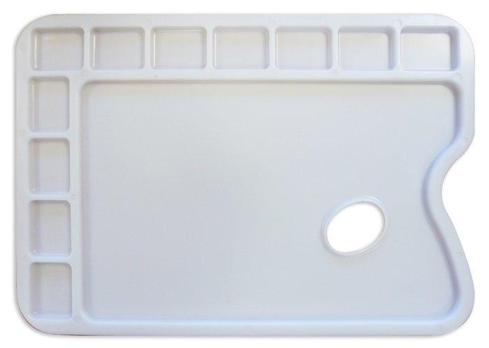 Paleta de plastico rectangular para acrilico y tempera