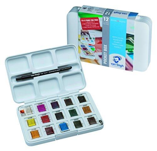 Set bolsillo acuarela 15 colores y pincel nº 6