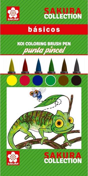 Lapiz marcador koi coloring basicos estuche 6 unidades