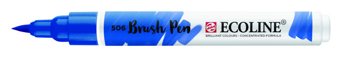 Marcador ecoline brushpen azul ultramarino oscuro