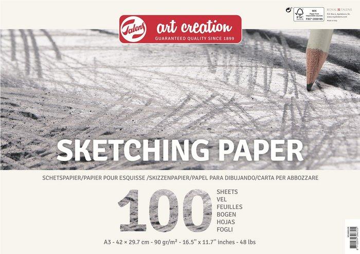 Bloc papel para esbozo talens art creation a3 90gr