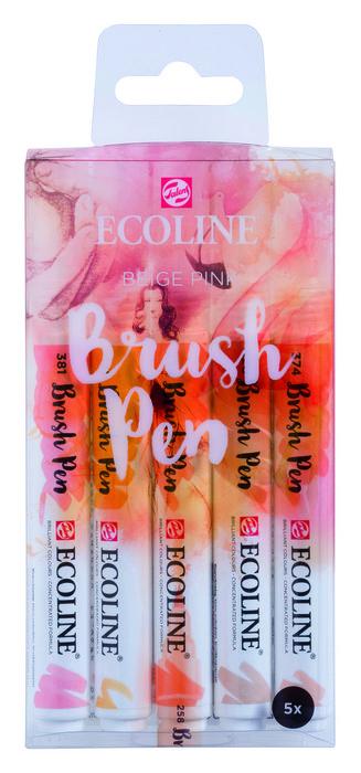 Marcador ecoline brushpen beige rosa 5 unidades